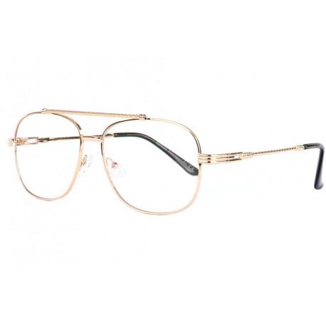 Grandes lunettes sans correction métal doré Geek Loak Lunettes sans correction Spirit of Sun