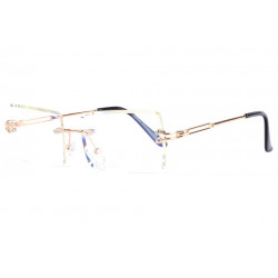 Lunettes sans correction percees fashion dorees Bysa Lunettes sans correction Spirit of Sun