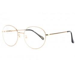 Grandes lunettes sans correction rondes dorees tendance Zyla