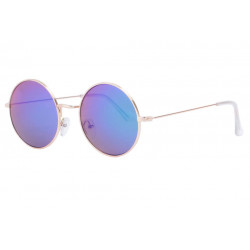 Fines lunettes de soleil rondes miroir bleu tendance Thyk Lunettes de Soleil Eye Wear