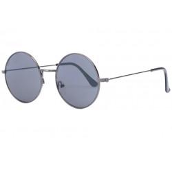 Fines lunettes de soleil rondes grises en métal Thyk Lunettes de Soleil SOLEYL