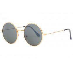 Fines lunettes de soleil rondes dorees classes Thyk Lunettes de Soleil SOLEYL