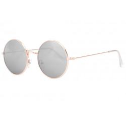 Fines lunettes de soleil rondes miroir argent fashion Thyk Lunettes de Soleil Eye Wear