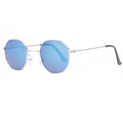 Lunettes de soleil octogonales miroir bleu tendance Octak Lunettes de Soleil Eye Wear