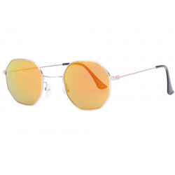 Lunettes de soleil octogonales miroir dore tendance Octak Lunettes de Soleil Eye Wear