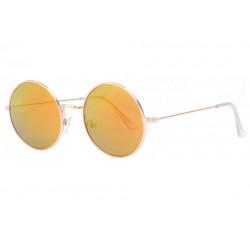 Fines lunettes de soleil rondes miroir dore fashion Thyk Lunettes de Soleil Eye Wear