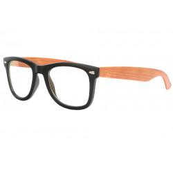 Lunettes sans correction en bois marron clair rectangles Futya Lunettes sans correction SOLEYL