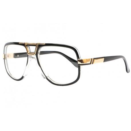Grosses lunettes sans correction noires fashion rectangles Kall Lunettes sans correction SOLEYL