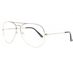 Grandes lunettes sans correction fines argent pilote Laik Lunettes sans correction SOLEYL