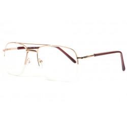 Grandes lunettes loupe metal dorees demi cerclees Lookya Lunette Loupe ProLoupe