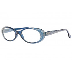 Lunettes loupe femme bleues design strass fashion Elya Lunette Loupe Loupea