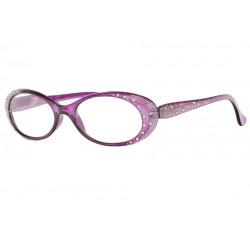 Lunettes loupe violettes femme design strass fashion Elya Lunette Loupe Loupea