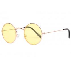 Petites lunettes de soleil rondes jaunes tendances Submy Lunettes de Soleil Eye Wear