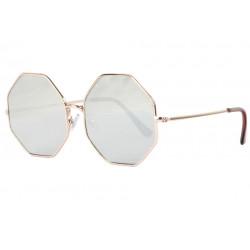 Lunettes de soleil octogonales miroir argent fashion Ocha Lunettes de Soleil Eye Wear