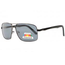Lunettes de soleil polarisées Sport Noires Metal Sparcy Lunettes de Soleil Eye Wear