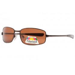 Fines Lunettes de soleil polarisées Sport Marron Metal Larcy Lunettes de Soleil Eye Wear