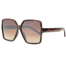 Grandes lunettes de soleil femme marrons ecailles fashion Zek Lunettes de Soleil Eye Wear