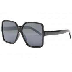 Grandes lunettes de soleil femme noires tendance Zek Lunettes de Soleil Eye Wear