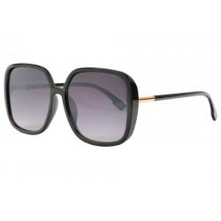 Grosses lunettes de soleil femme noires mode classe Leka Lunettes de Soleil Eye Wear