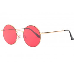 Lunettes de soleil rondes rouges fashion Kyl Lunettes de Soleil Spirit of Sun