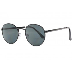 Fines lunettes de soleil rondes noires mode Ytby Lunettes de Soleil Spirit of Sun