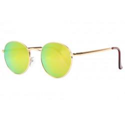 Lunettes de soleil miroir rondes dorees fashion Ytby Lunettes de Soleil Spirit of Sun