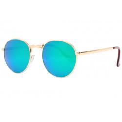 Lunettes de soleil miroir rondes bleues fashion Ytby Lunettes de Soleil Spirit of Sun