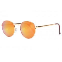 Lunettes de soleil miroir rondes oranges fashion Ytby Lunettes de Soleil Spirit of Sun