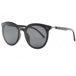 Grandes lunettes de soleil rondes femme noires classe Tiny Lunettes de Soleil Spirit of Sun