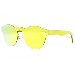 Lunettes soleil miroir dore rondes fashion Frest Lunettes de Soleil SOLEYL