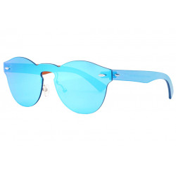 Lunettes soleil miroir bleues rondes fashion Frest Lunettes de Soleil SOLEYL