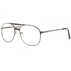 Grandes lunettes loupe metal gris Optya Lunette Loupe New Time